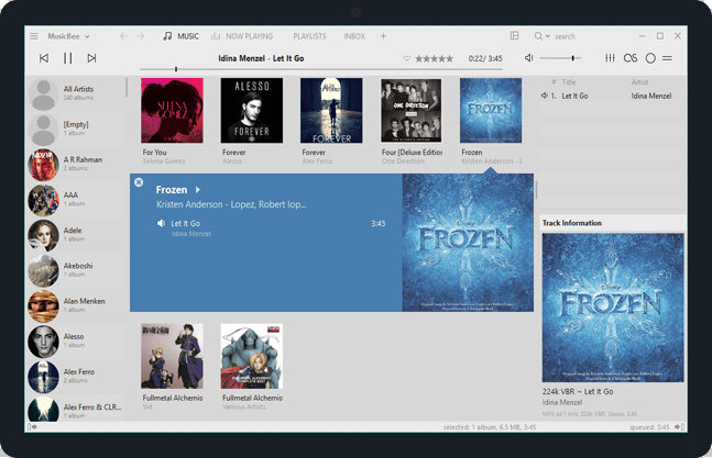 MusicBee free audio player