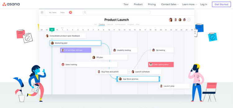 Asana Free Project Management Web Application