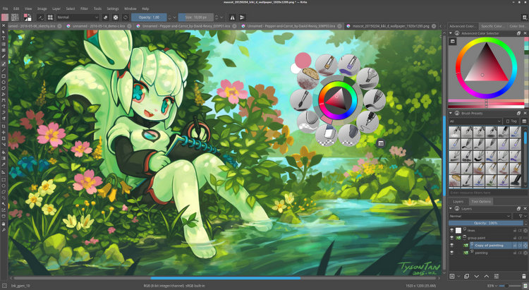 Krita free professional open source image editor